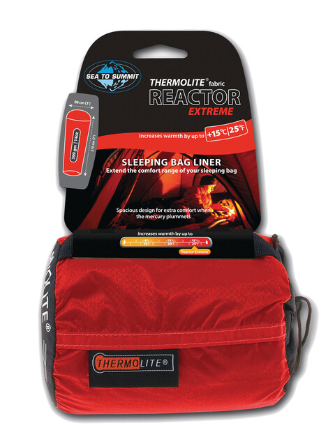 Sea to Summit Thermolight Reactor Extreme Liner red